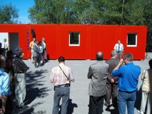 Einweihung der Infobox in Enspel durch den Ersten Kreisbeigeordneten Kurt Schüler